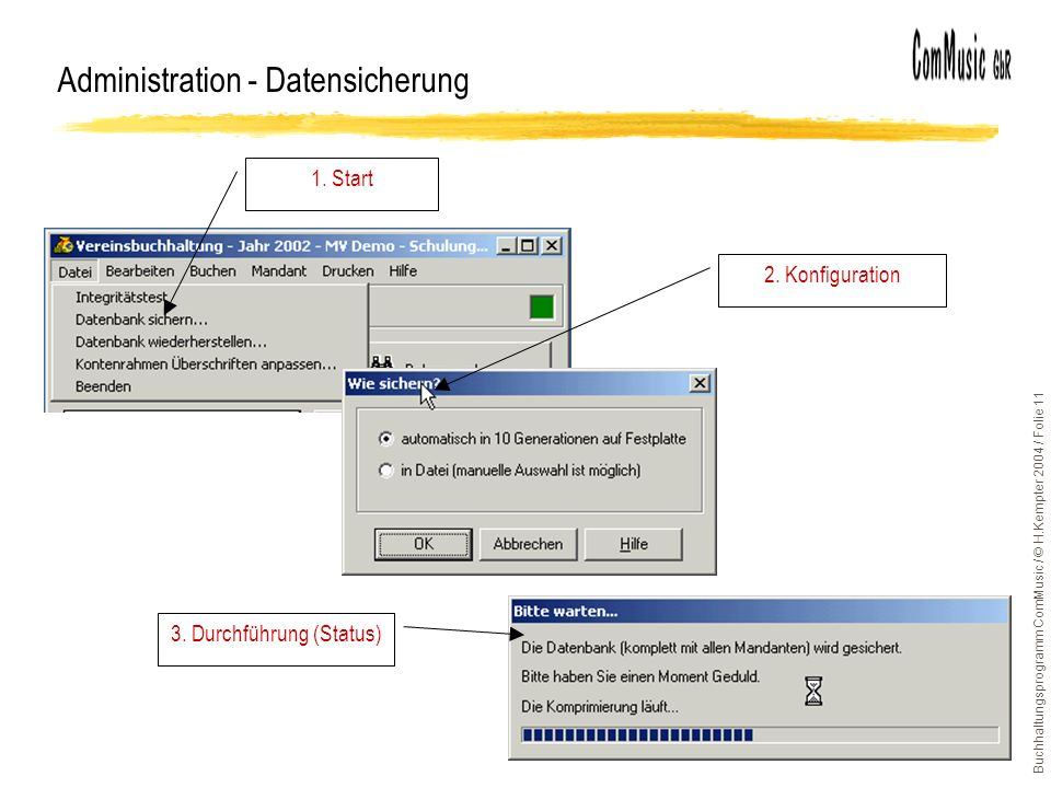Administration - Datensicherung