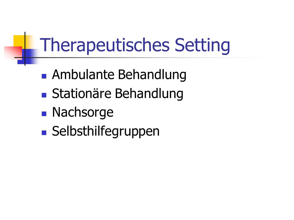 Therapeutisches Setting