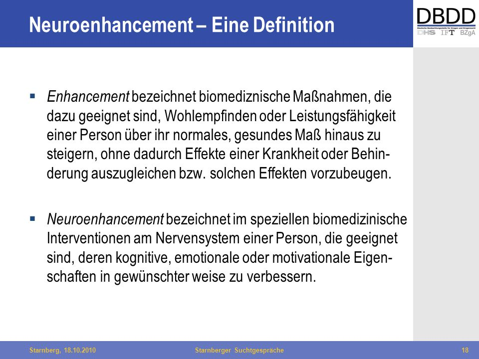 Neuroenhancement – Eine Definition