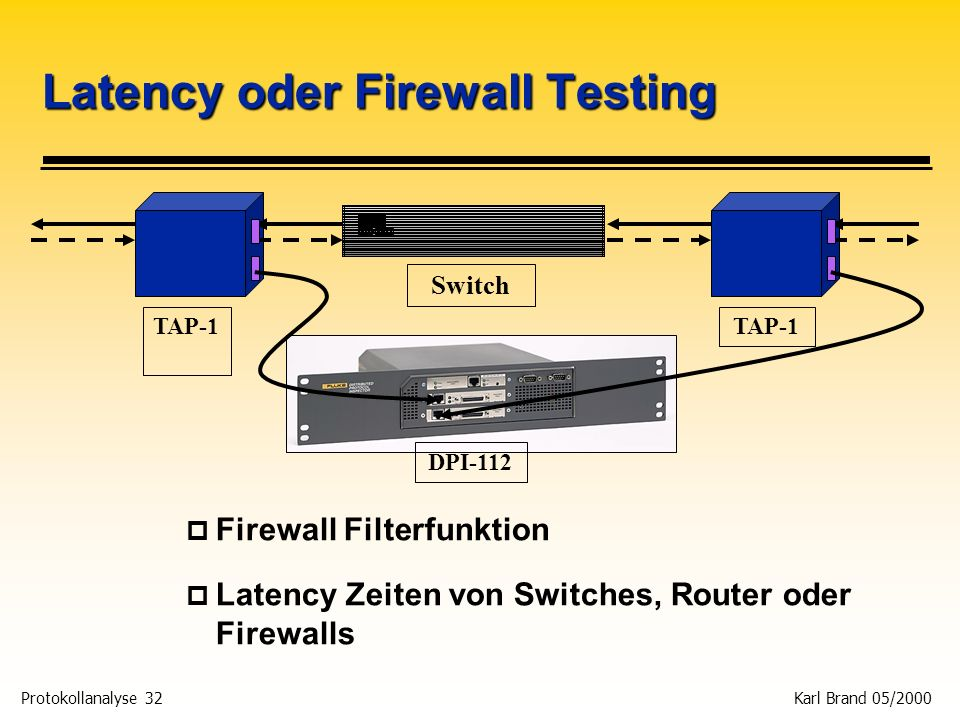 Latency oder Firewall Testing