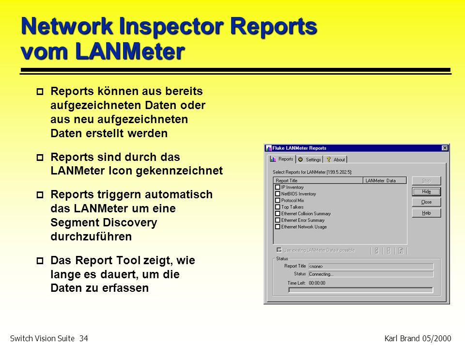Network Inspector Reports vom LANMeter