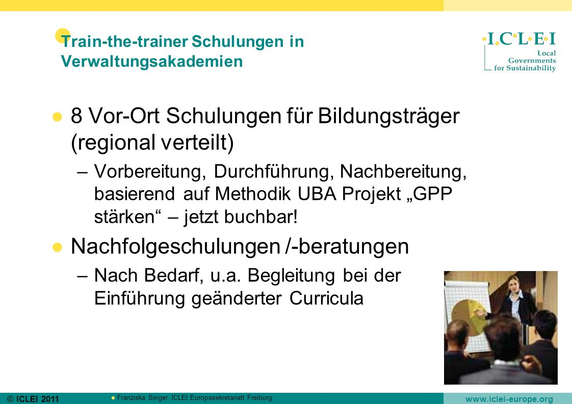Train-the-trainer Schulungen in Verwaltungsakademien