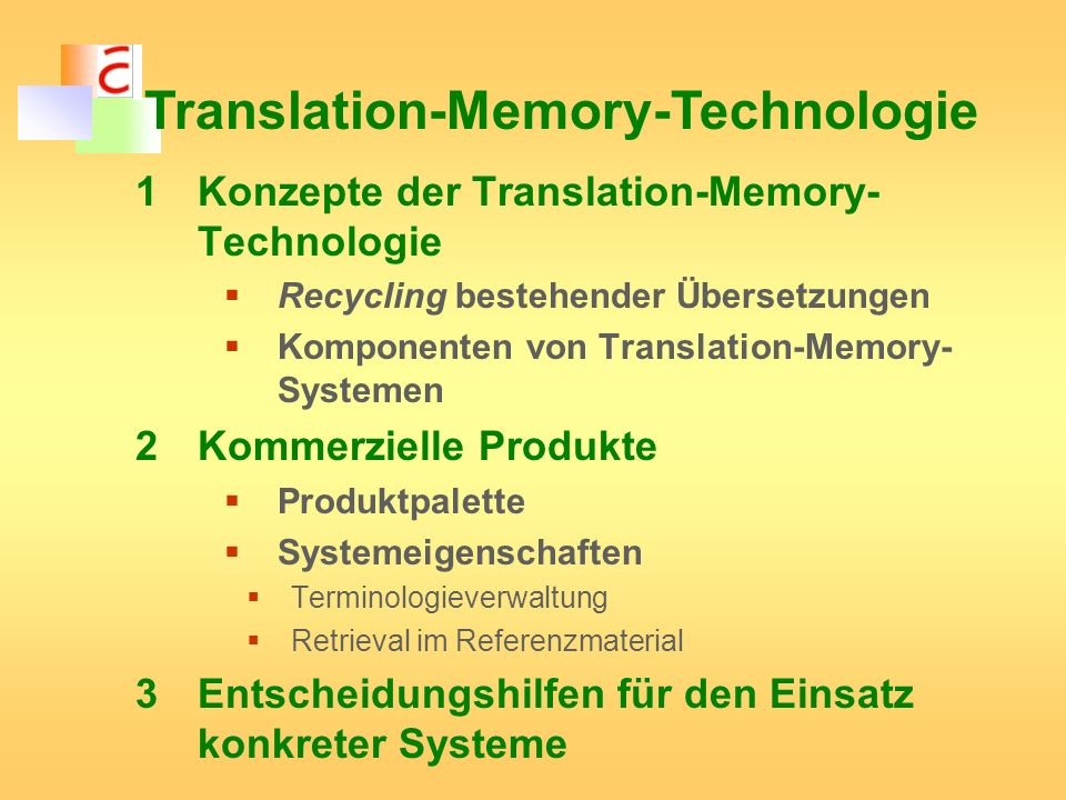 Translation-Memory-Technologie