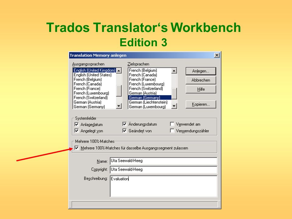Trados Translator's Workbench Edition 3