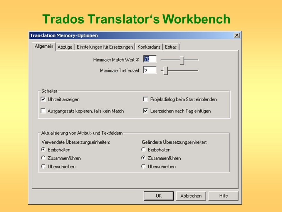 Trados Translator's Workbench