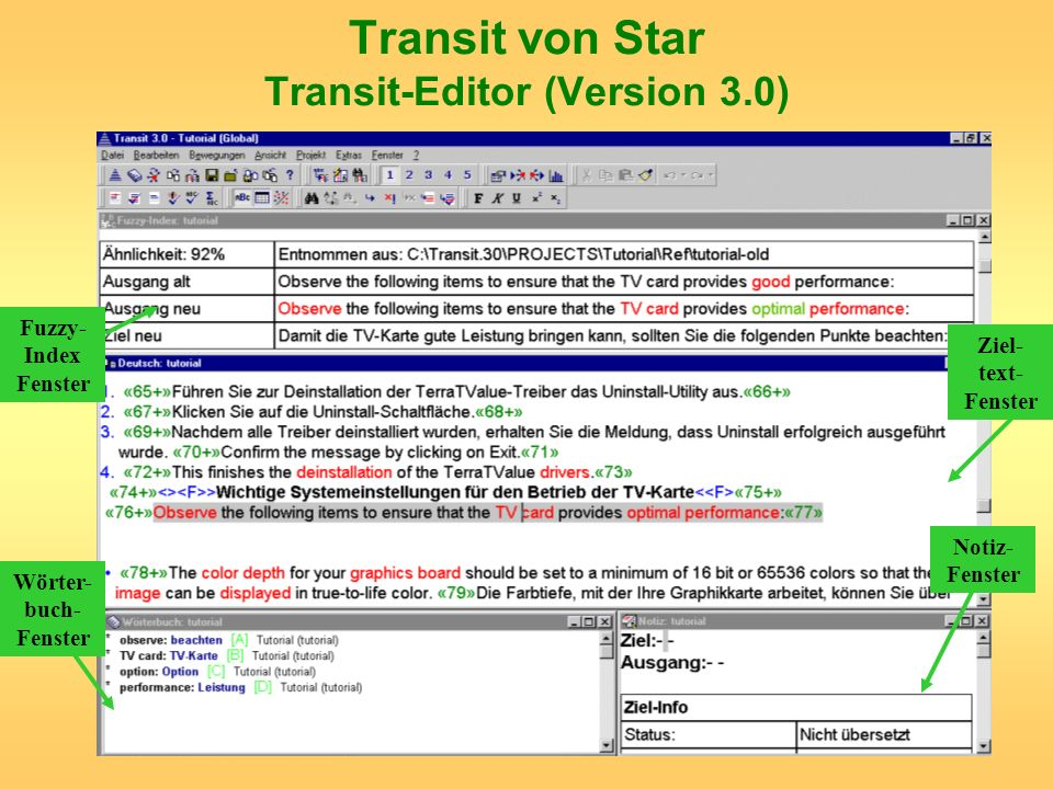 Transit von Star Transit-Editor (Version 3.0)
