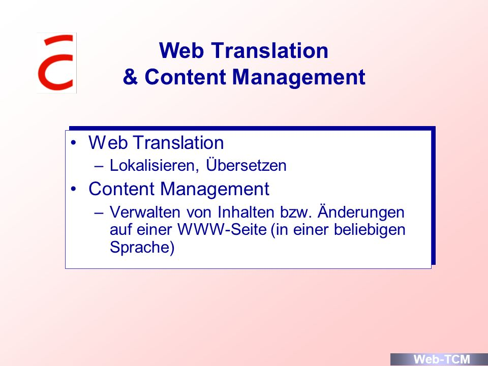 Web Translation & Content Management