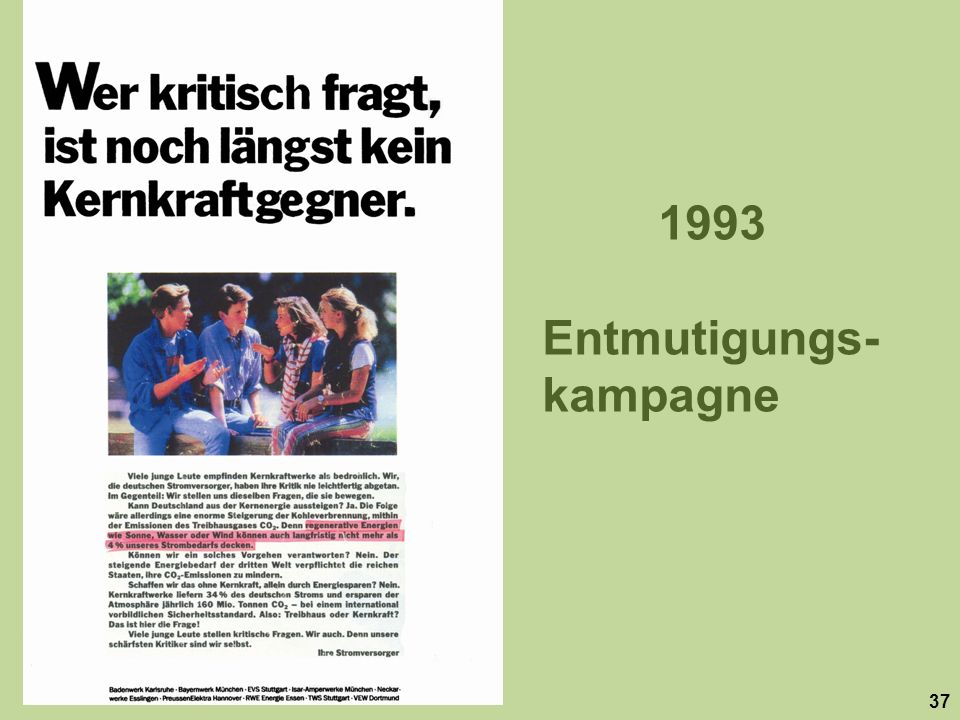 Entmutigungs-kampagne