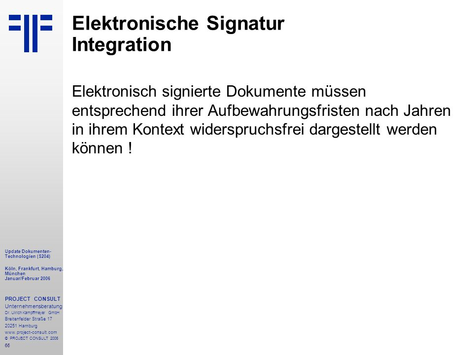 Elektronische Signatur Integration