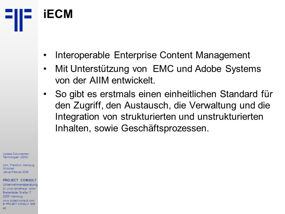 iECM Interoperable Enterprise Content Management