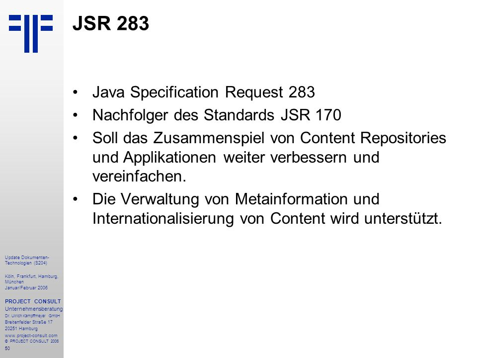 JSR 283 Java Specification Request 283