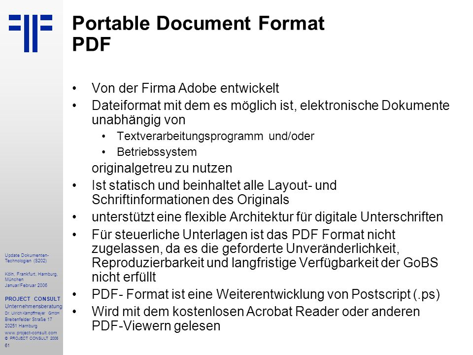 Portable Document Format PDF