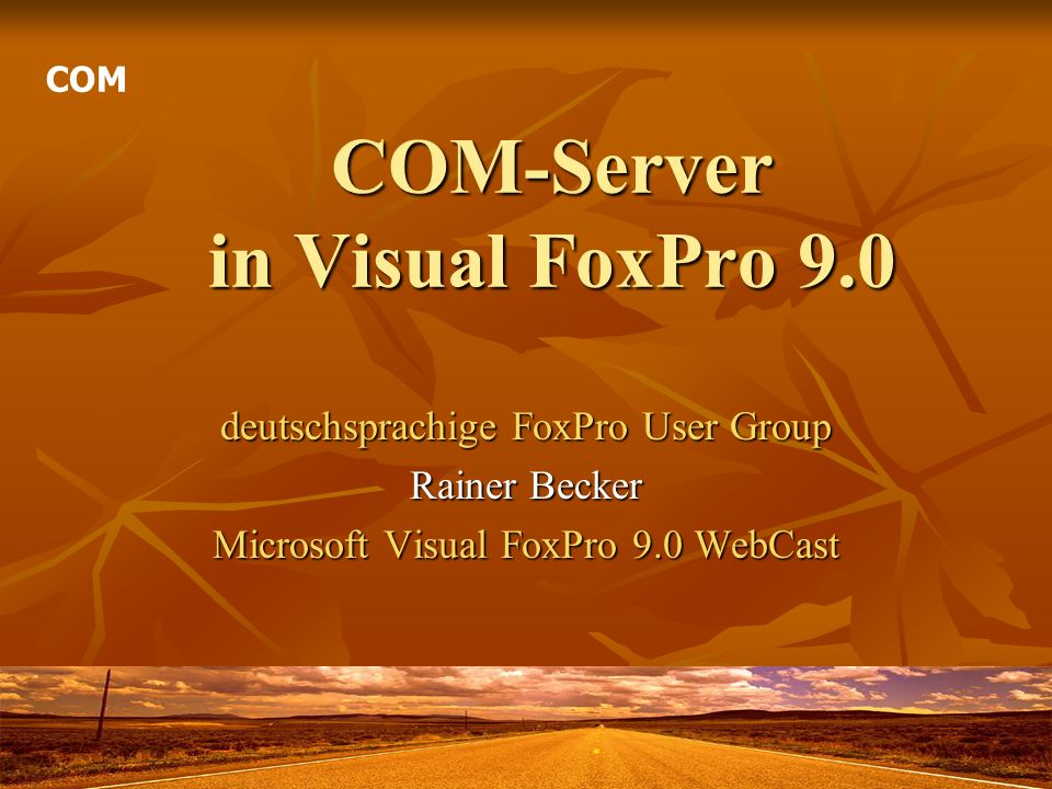 COM-Server in Visual FoxPro 9.0