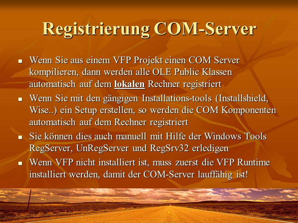 Registrierung COM-Server