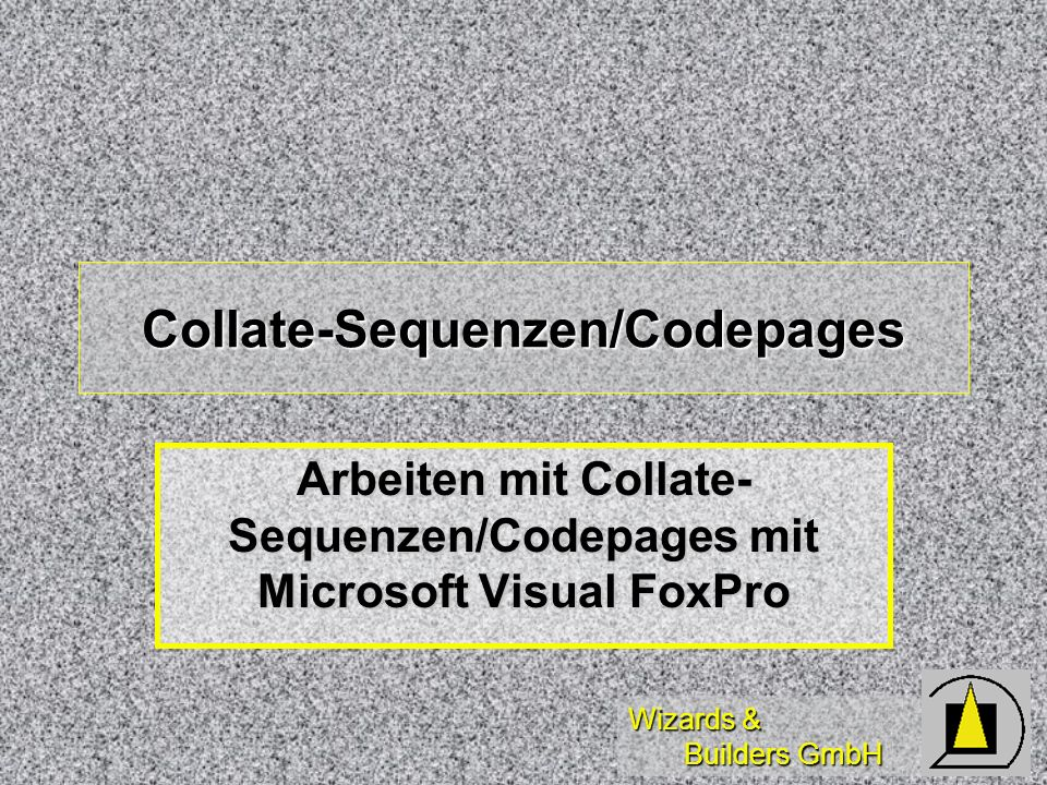 Collate-Sequenzen/Codepages