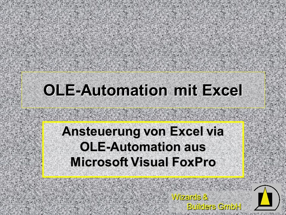 OLE-Automation mit Excel