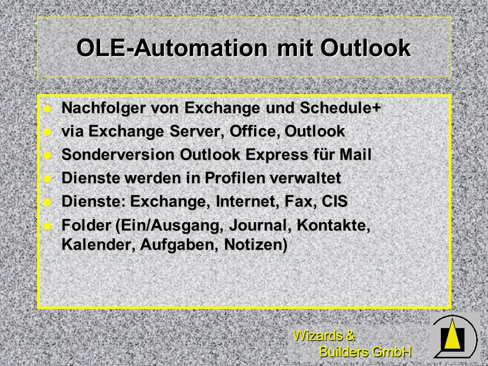 OLE-Automation mit Outlook