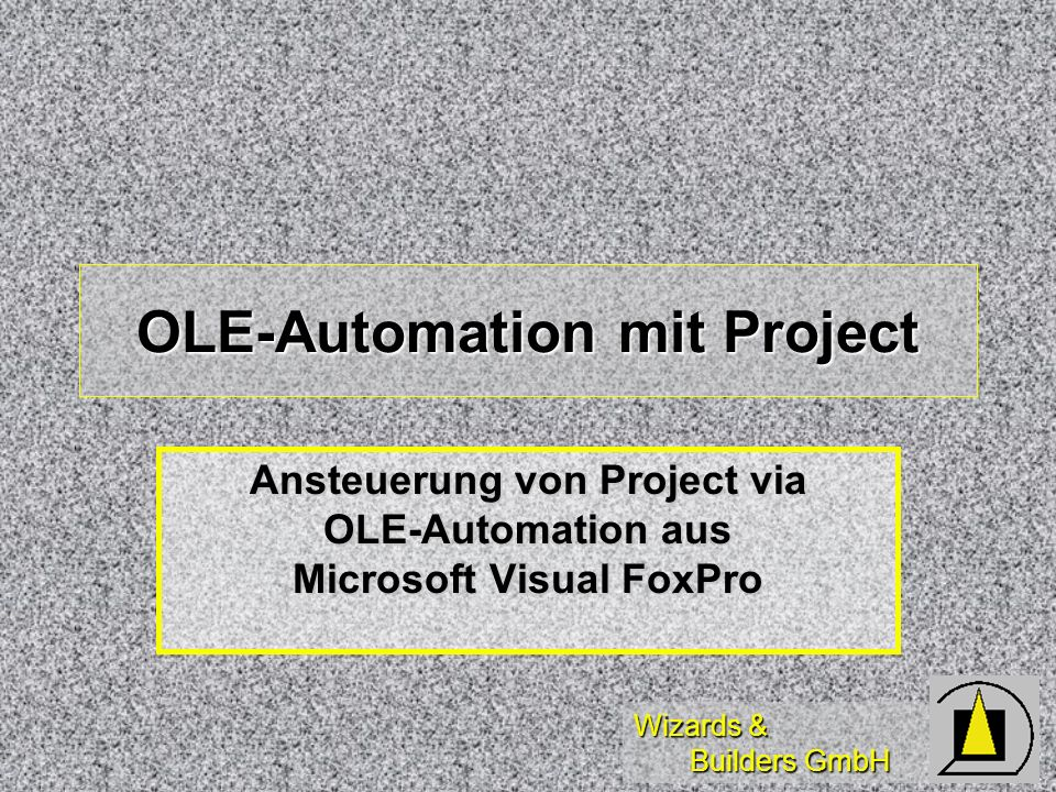 OLE-Automation mit Project