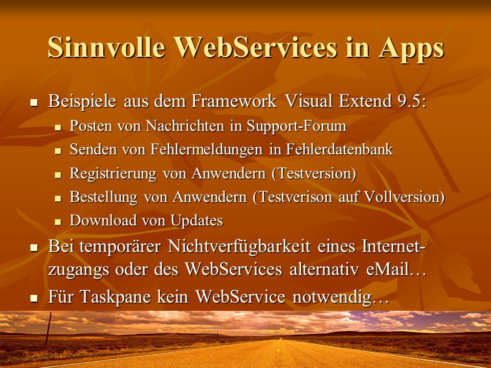 Sinnvolle WebServices in Apps