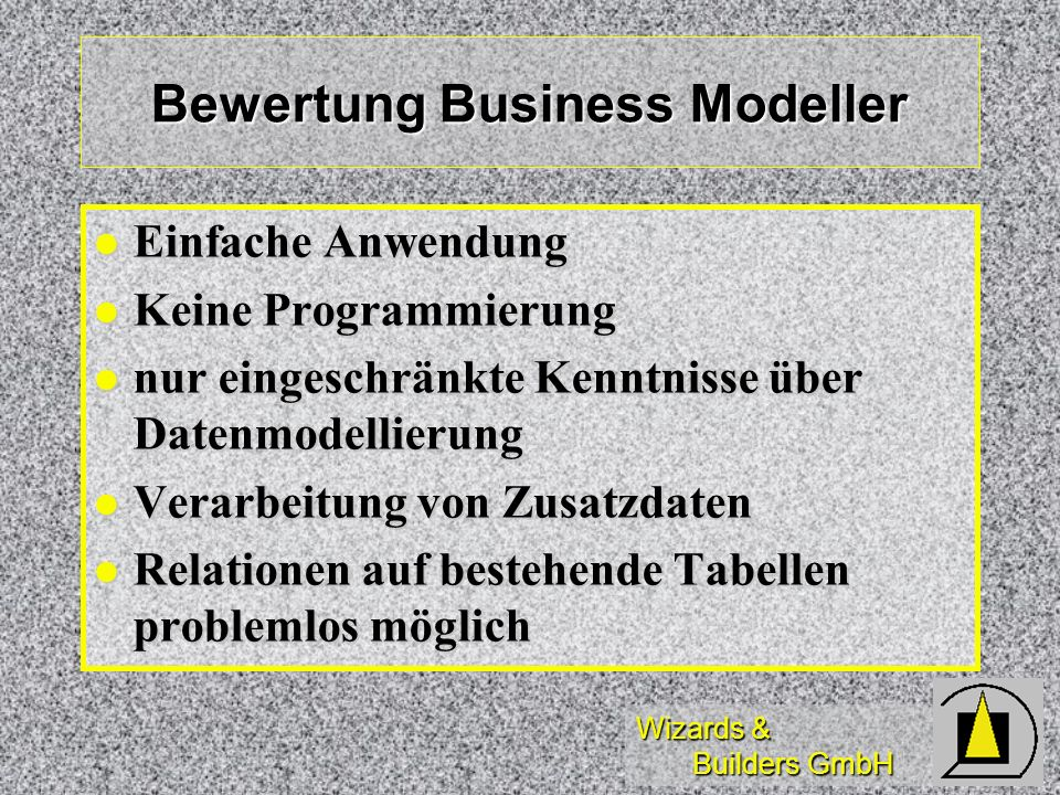 Bewertung Business Modeller