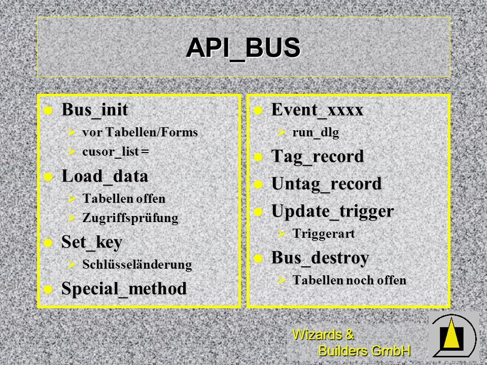 API_BUS Bus_init Load_data Set_key Special_method Event_xxxx