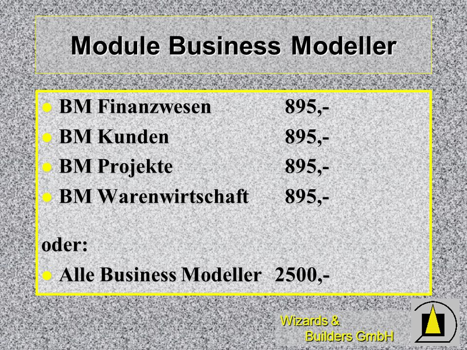 Module Business Modeller