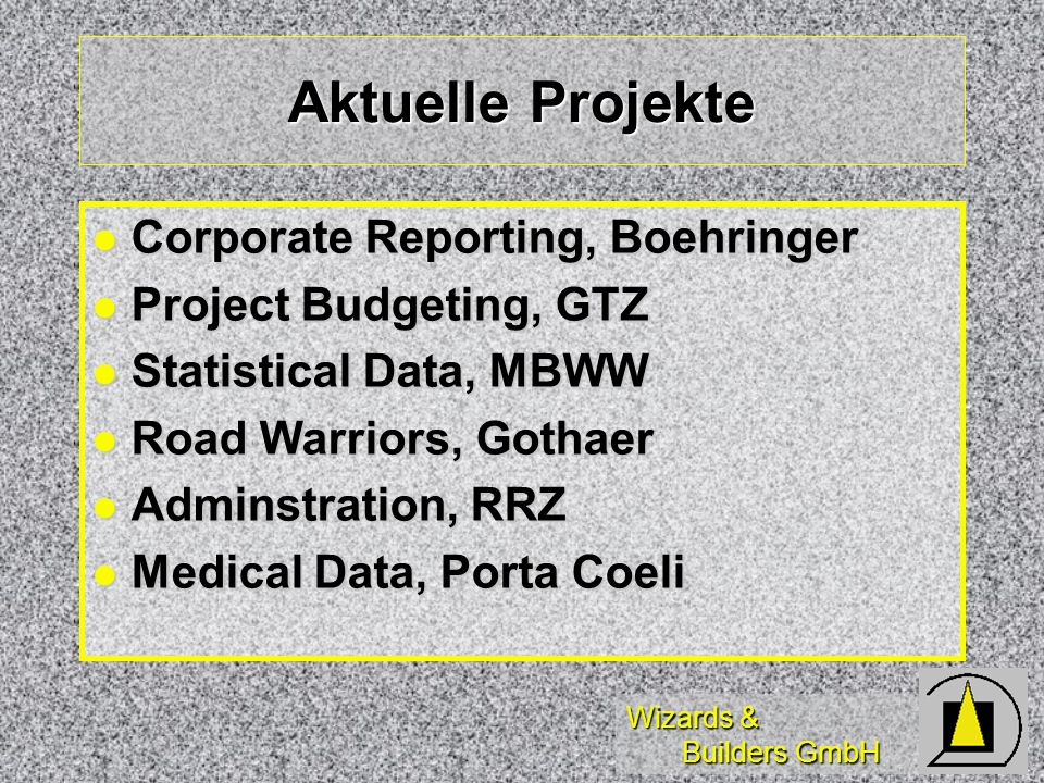 Aktuelle Projekte Corporate Reporting, Boehringer