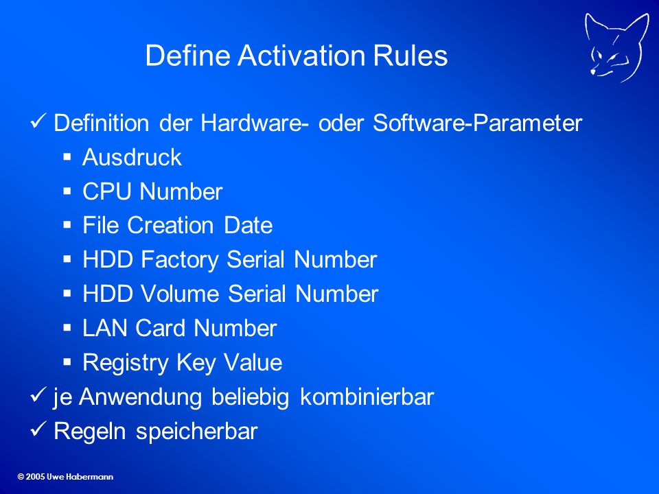 Define Activation Rules
