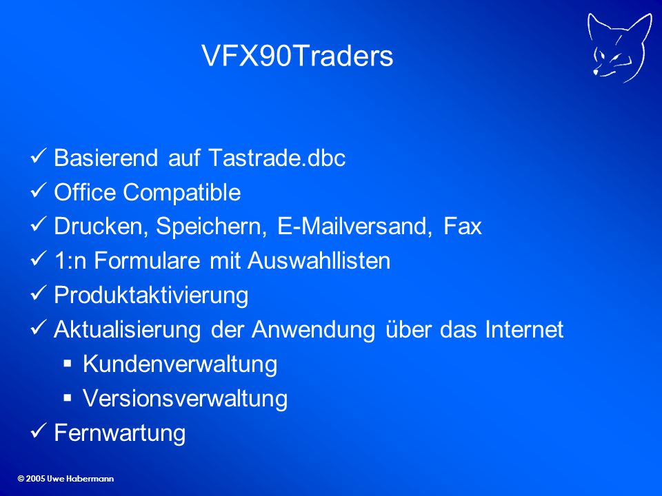 VFX90Traders Basierend auf Tastrade.dbc Office Compatible