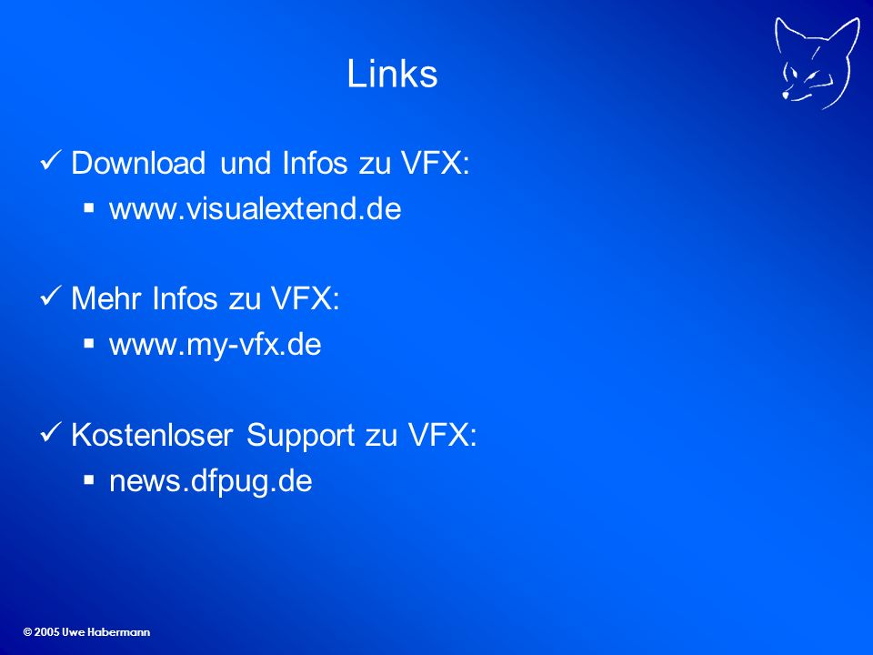 Links Download und Infos zu VFX: