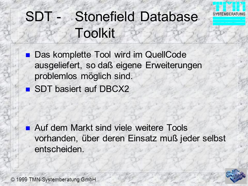 SDT - Stonefield Database Toolkit