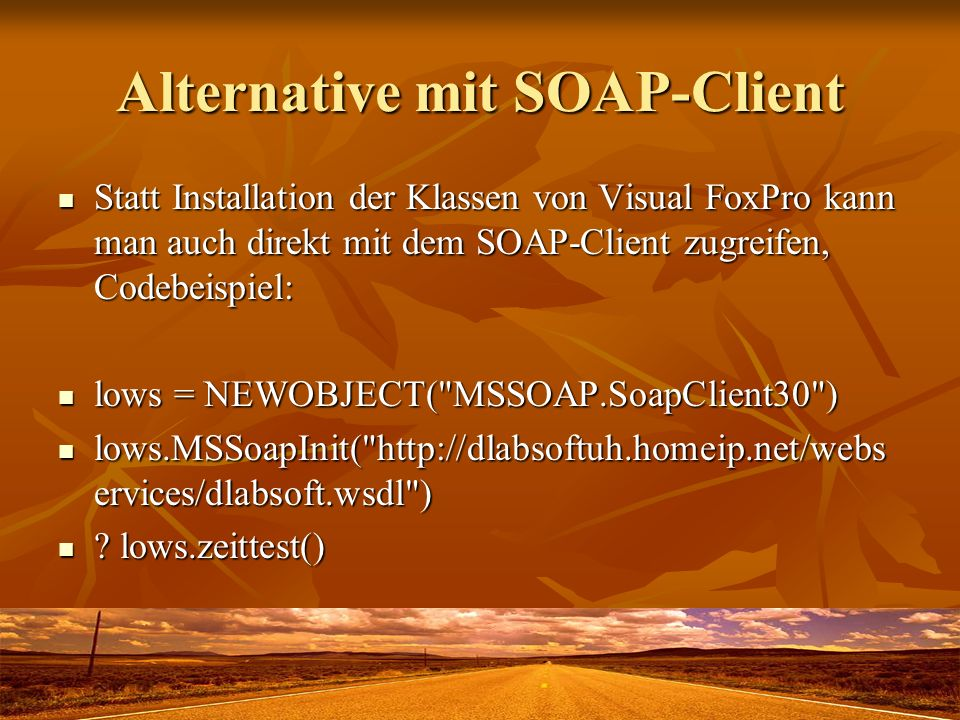 Alternative mit SOAP-Client