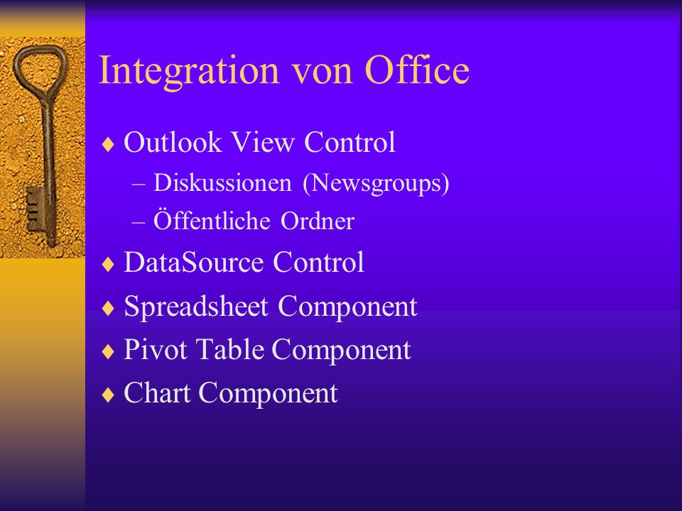 Integration von Office