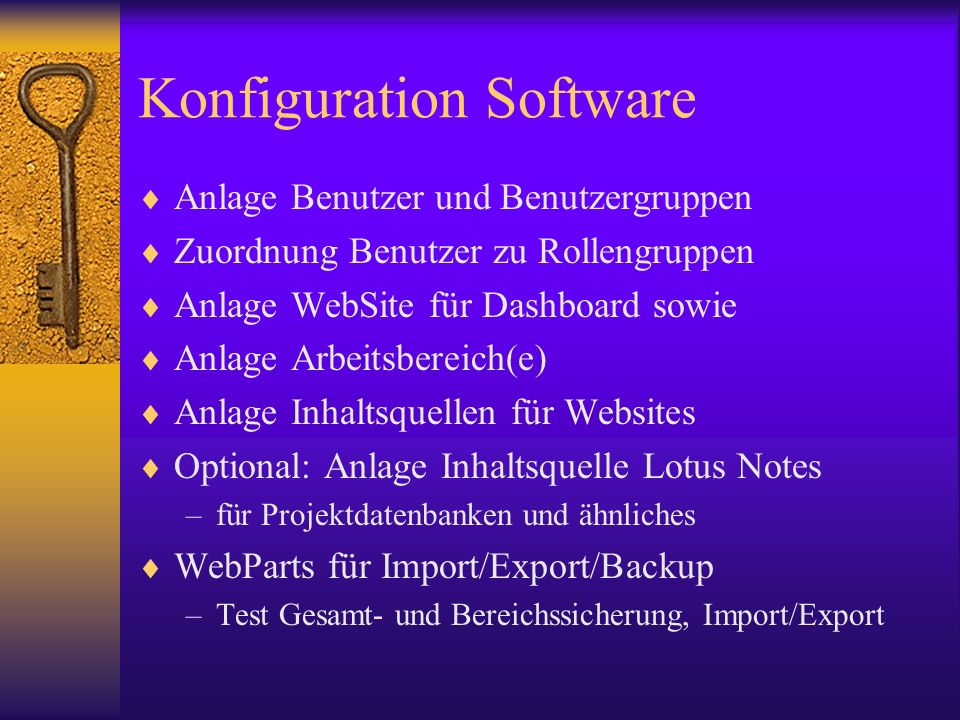 Konfiguration Software