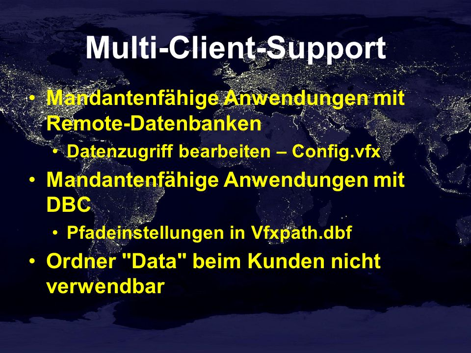 Multi-Client-Support