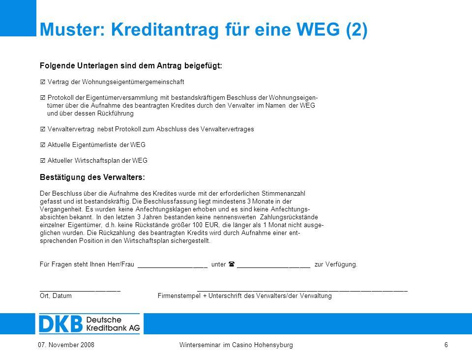 6 winterseminar im casino hohensyburg - Protokoll Eigentumerversammlung Muster