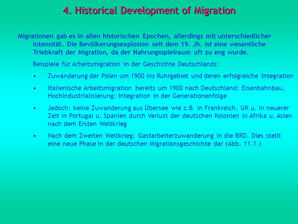 4. Historical Development of Migration