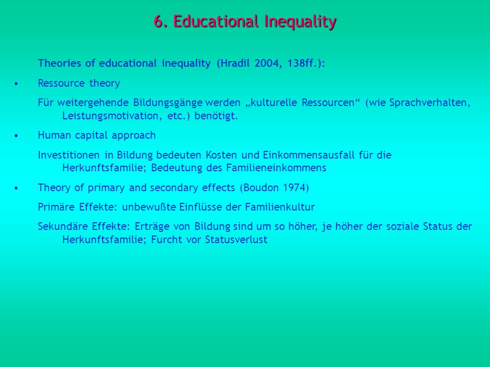 6. Educational Inequality