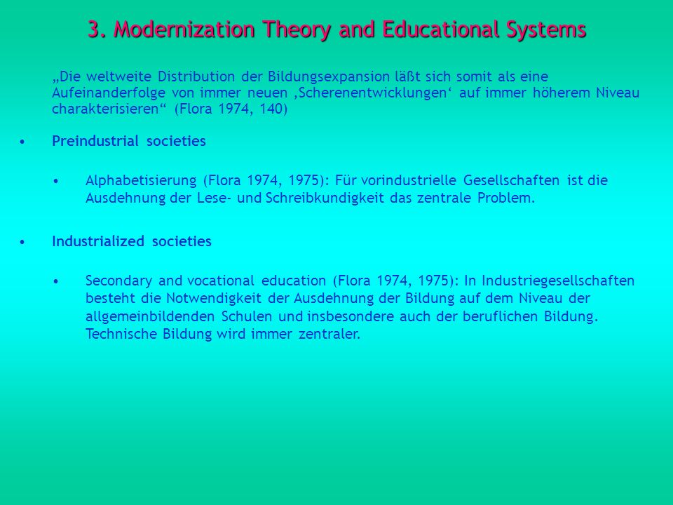 3. Modernization Theory and Educational Systems