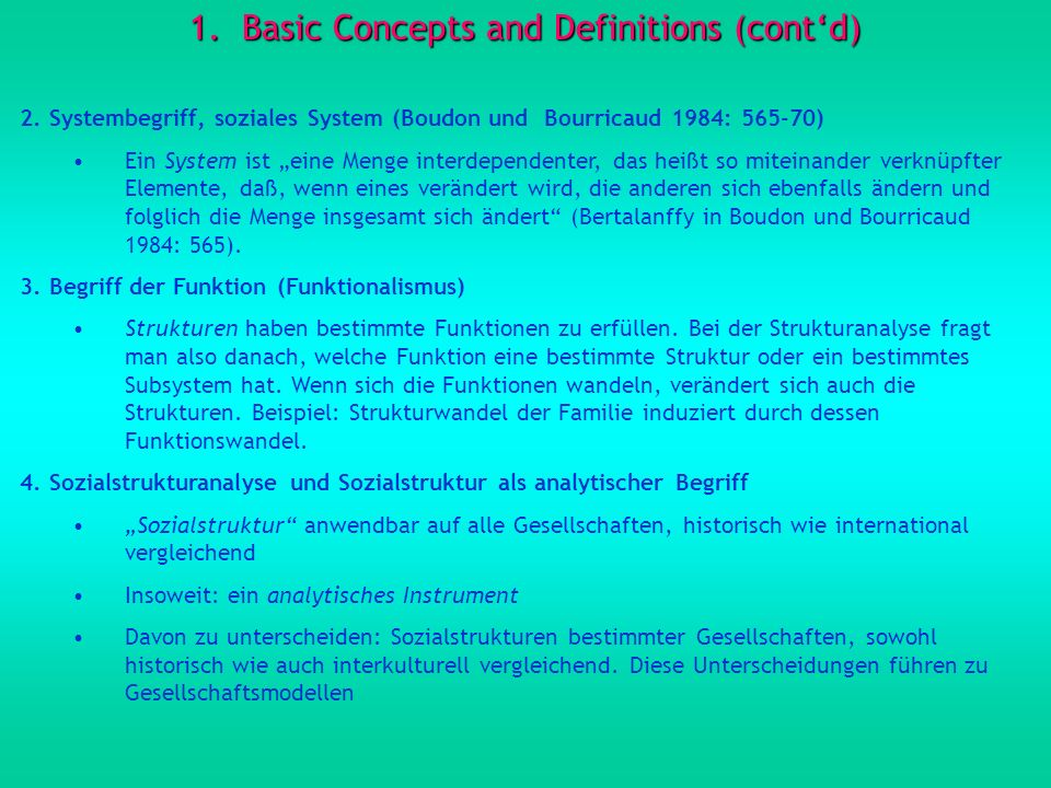 Basic Concepts and Definitions (cont'd)