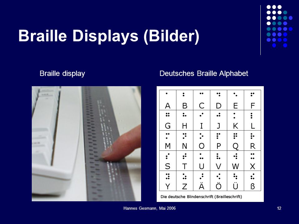 Braille Displays (Bilder)
