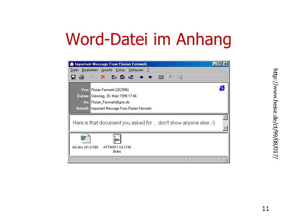 Word-Datei im Anhang