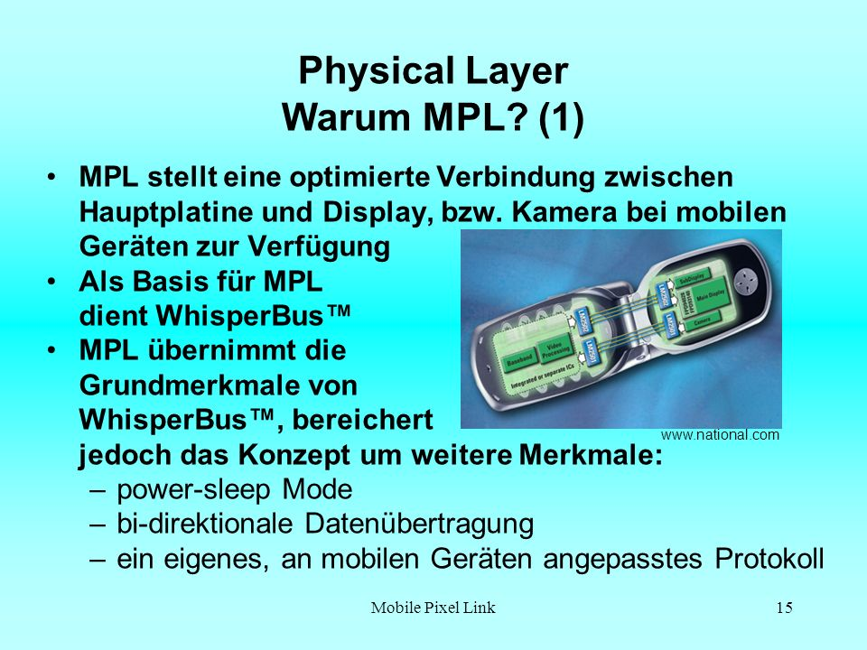 Physical Layer Warum MPL (1)