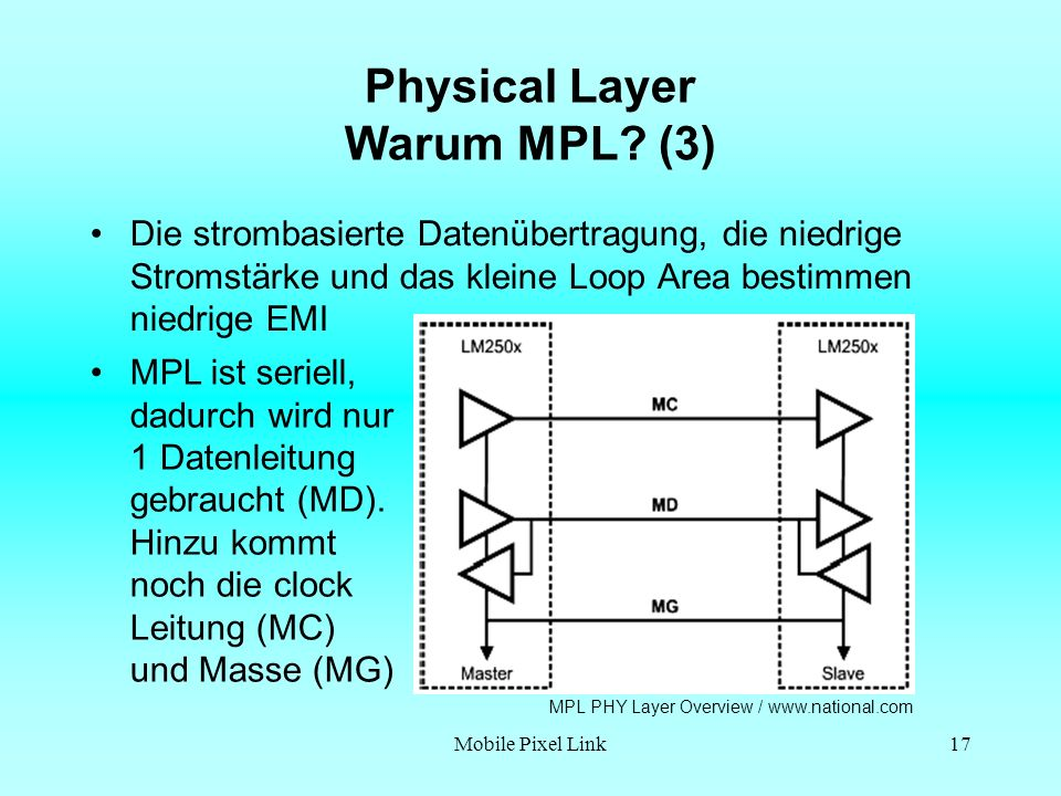 Physical Layer Warum MPL (3)