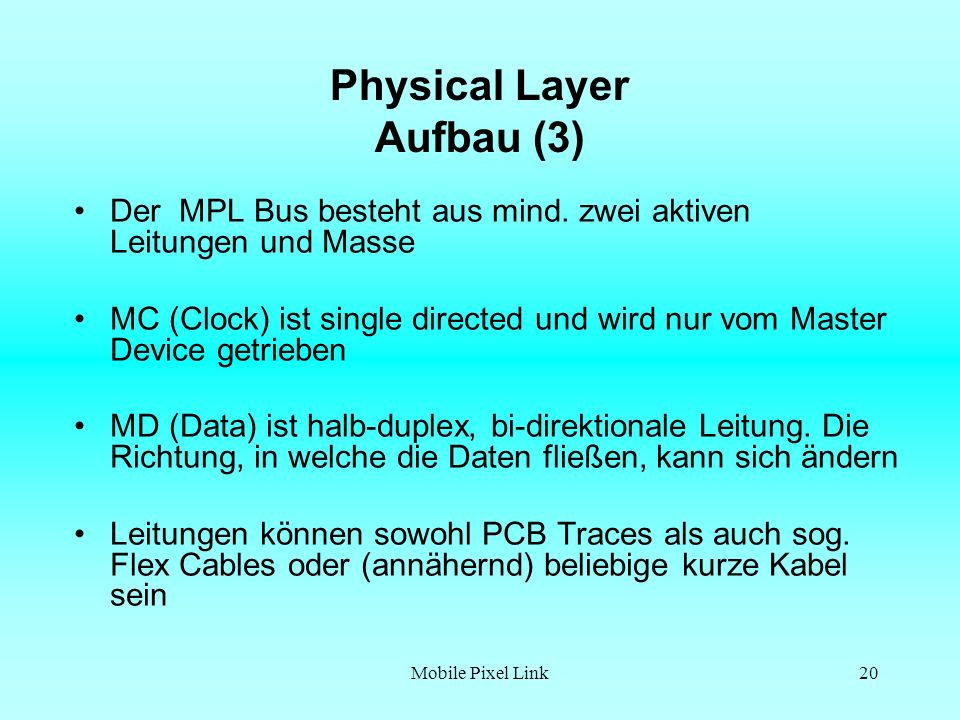 Physical Layer Aufbau (3)