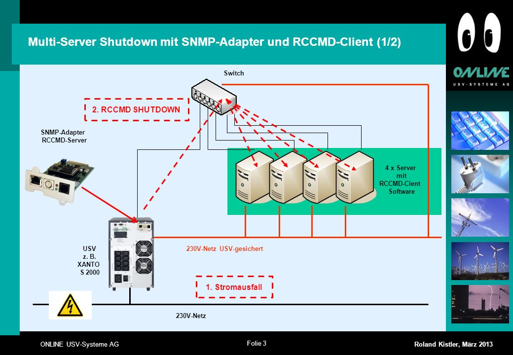 Multi-Server Shutdown mit SNMP-Adapter und RCCMD-Client (1/2)