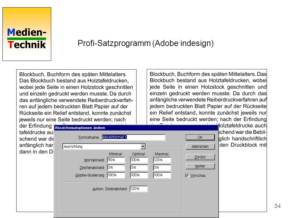 Profi-Satzprogramm (Adobe indesign)