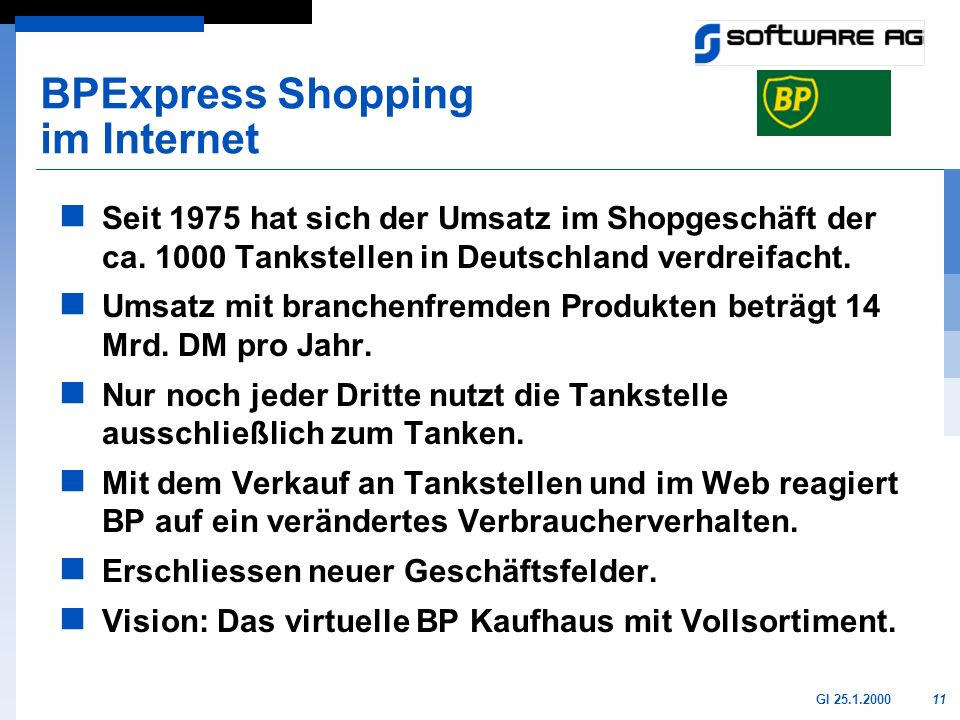 BPExpress Shopping im Internet