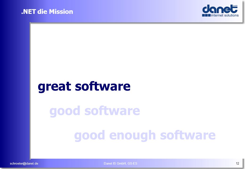 Empower people through great software, any time, any