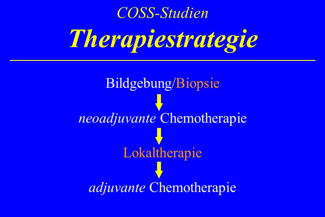 COSS-Studien Therapiestrategie
